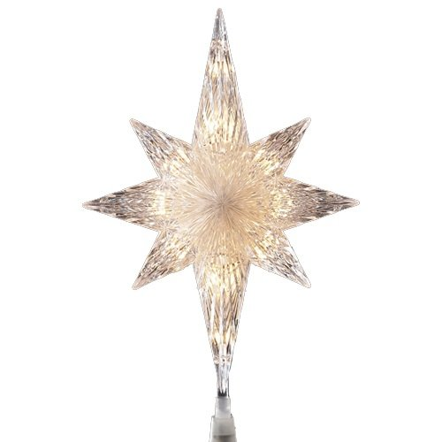 Amazon.com: Sienna Lighted Faceted Bethlehem Star Christmas Tree ...