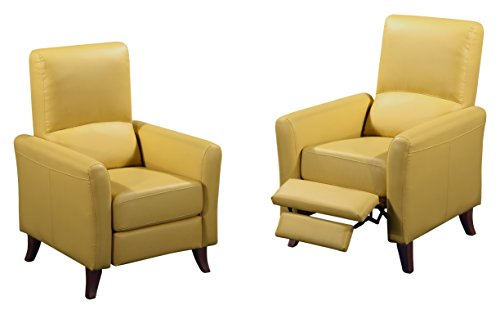Rissanti Siena Recliner, Mustard (Yellow Leather Recliner)