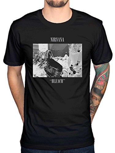 AWDIP Mens Official Nirvana Bleach T-Shirt Rock Band Alternative Kurt Cobain