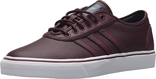 Burgundy Footwear - adidas Skateboarding Unisex Adi-Ease Dark Burgundy/Footwear White/Mystery Ink Synthetic 12 Women / 11 Men M US