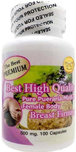 The Best Premium Pueraria Mirifica 500mg 100 Vegetarian Capsules Powder Natural Herbal
