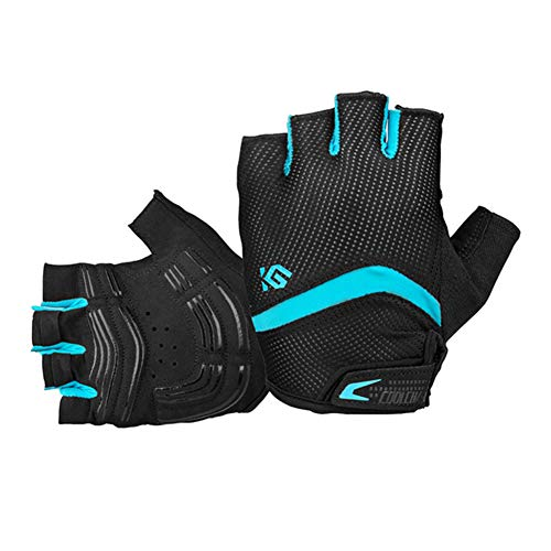 Handball Team Dimensions (eroute66 Bike Gloves Bicycle Gloves Cycling Gloves Mountain Biking Gloves with Anti-Slip Shock-Absorbing Pad Breathable Half Finger Outdoor Sports Gloves Blue M)