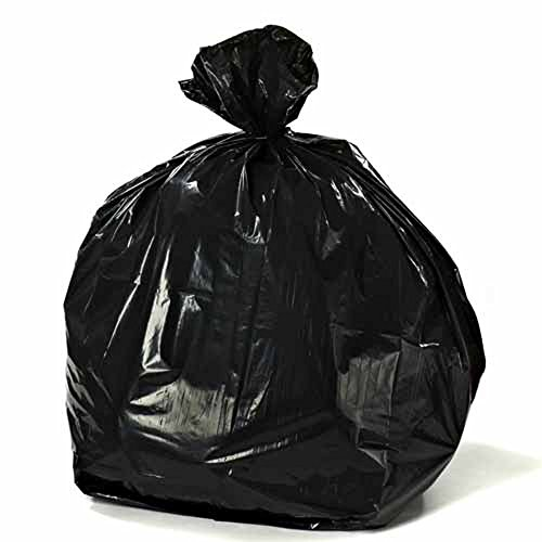"Plasticplace Rubbermaid Compatible 44 Gallon Trash Bag 38""W x 46""H Black 100 Bags from Plasticplace"