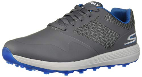 Skechers Men's Max Golf Shoe, Charcoal/Blue, 10.5 M US