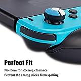 2 Pairs Red/Blue Thumb Grip Set Joystick Cap