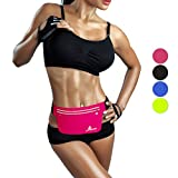Fitnow Running Belt Outdoor Sports Waist Fanny Packs Fit IPhone 7Plus 6sPlus Samsung S7, Cycling, Hiking, Walking Fitness Workout Belt (Rose)