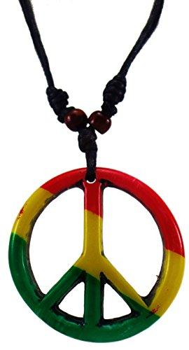 Peace Sign Necklace - Peace Symbol Necklace - Hippie Necklace - Resin Peace Sign Pendant (Peace Pendant Necklace)