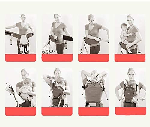TYUE Estaciones, Portabebés ergonómico, cinturón Ajustable para Todas Las Estaciones, TYUE Taburete de la Cintura del Portador del bebé Azul Rosa Verde 0-36 Meses,Rosa 46ba7b