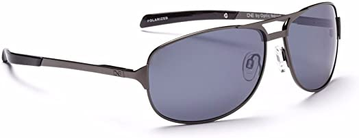 Optic Nerve, Siege, Unisex Sunglasses – Polarized Smoke with Silver Flash Lens, Gunmetal Frame