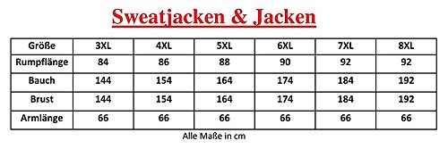 Übergrössen !!! Schicke Sweatjacke Lavecchia in Schwarz 2014A