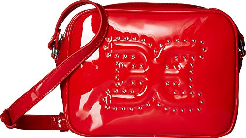 Sam Edelman Women's Naya Camera Bag w/Studs Red Patent One Size