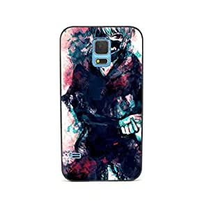 CaseCityLiu - Pattern2 Tokyo Ghoul Jin Muyan Cartoon Design Black Bumper Metal Frame Full Armor Protect Case Cover for Samsung Galaxy S5