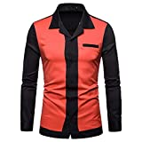 kaifongfu-mens clothes (Orange,L)