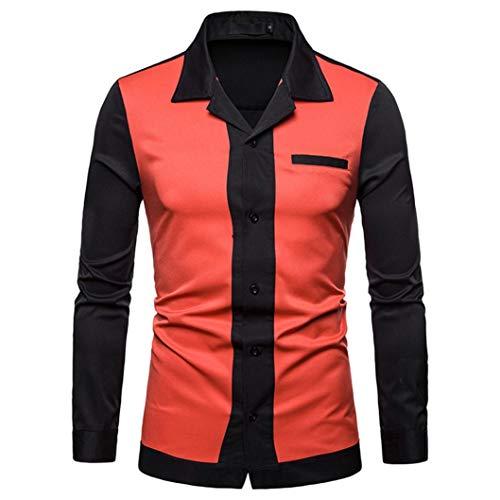 kaifongfu-mens clothes (Orange,M) -