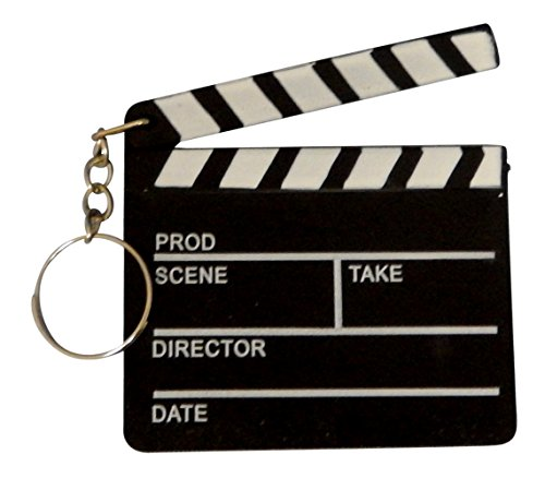 36 Pieces Plastic Hollywood Movie Themed Clapboard Key Chain Party Favor