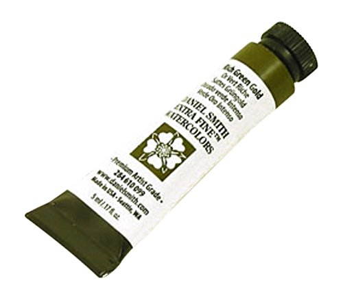 DANIEL SMITH Extra Fine Watercolor Paint, 5ml Tube, Rich Green Gold, 284610099
