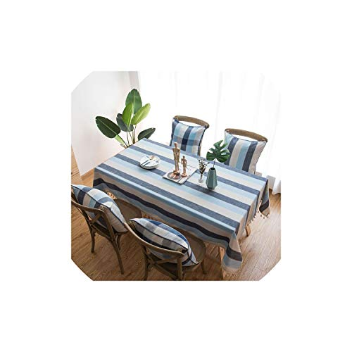 (Stripe Waterproof Kitchen Table Cloth Tablecloth Rectangular Tablecloths Dining Table Cover,Stripe,140220Cm)