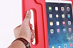 iPad 2/3/4 Kiddie Case - SAVYOU EVA Shock Proof Handle Kickstand Kids Friendly Protective Shockproof Cover Case with Stand for Apple iPad 2/3/4 (Red)