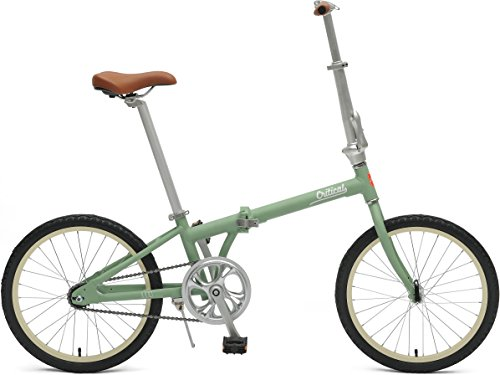 Critical Cycles 2645 Judd Folding Bike Single-Speed with Coaster Brake, Matte Sage Green, 26cm/One Size