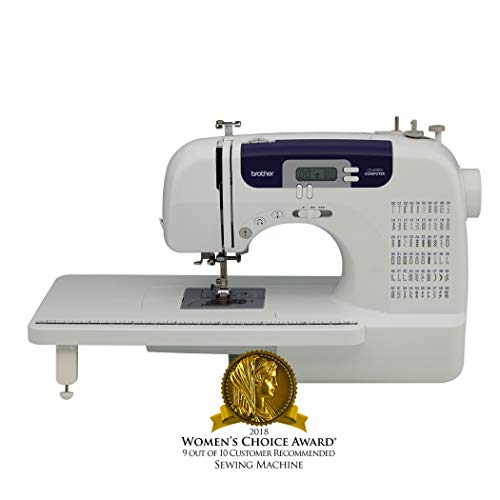 Brother Sewing and Quilting Machine, CS6000i, 60 Built-In Stitches, 7 styles of 1-Step Auto-Size Buttonholes, Wide Table, Hard Cover, LCD Display and Auto Needle Threader (Certified Refurbished)
