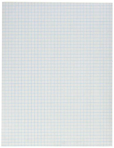 School Smart Graph Paper Pad with Chipboard Back, 8-1/2 x 11 Inches, 1/4 Inch Rule, White (4 X Pack of 12) by School Smart (Image #1)