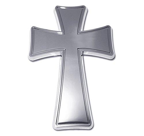 Elektroplate Chrome Cross Tapered Auto Emblem