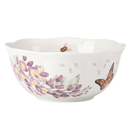 Flower Soup Bowl - Lenox 857699 Butterfly Meadow Ice Cream Bowl, Multicolor