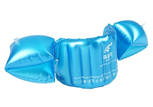 Topsung Kids Deluxe Life Jacket Swim Trainers Arm Bands Rings Floats and Swim Vest for Children Blue (Swim Life)