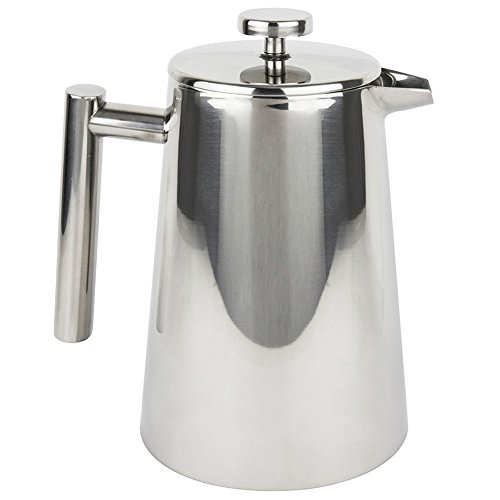 Dual Filter Coffee Maker : Stainless Steel French Press Coffee Tea Maker 34 oz Ardito Coffee AC1LSSCP 4x8 oz Cup Safe ...