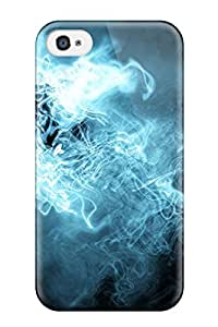 Hot Tpu Cover Case For Iphone/ 4/4s Case Cover Skin - Blue Abstract