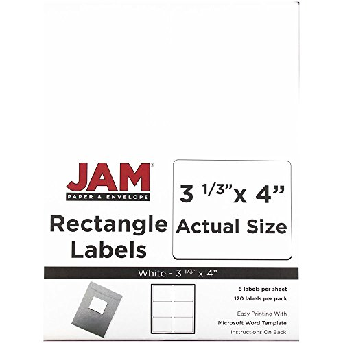 JAM Paper Shipping Address Labels - Large - 3 1 3