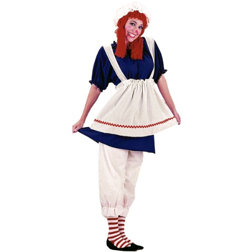 Make Raggedy Andy Costume (Rag Doll Adult Costume - Medium)