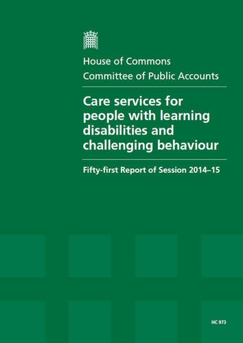 Care services for people with learning disabilities and challenging behaviour: fifty-first report of session 2014-15, report, together with formal to the report (House of Commons Papers) pdf epub