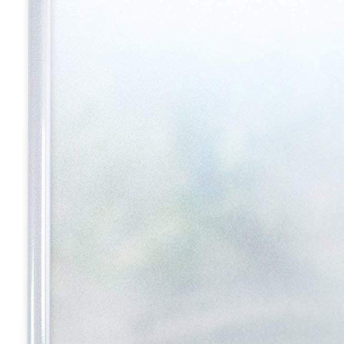 "Homein Privacy Window Film Frosted Matte White, Self Adhesive Glass Film Removable Static Cling Decorative Window Sticker No Glue Block UV Vinyl Window Blind for Office Kitchen Bathroom 35.4""x78.7"""