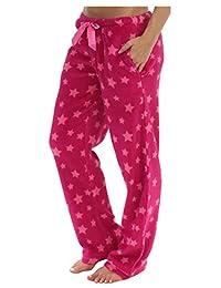 PajamaMania Women's Plush Relaxed Fit Fleece PJ Pajama Pants