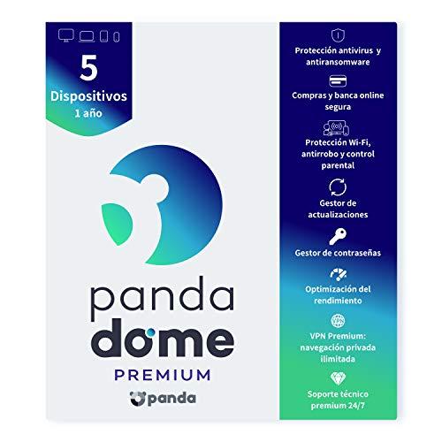 Panda Dome Premium 2021 – Software Antivirus | 5 Dispositivos | 1 año | VPN Premium | Soporte Técnico 24/7…