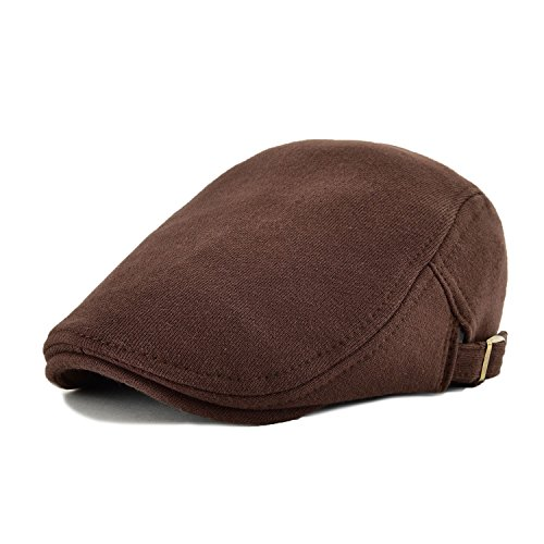 VOBOOM VOBOOM2017 Men's Cotton Flat IVY Gatsby newsboy Driving Hat Cap (Brown) (Brown Driving Cap)