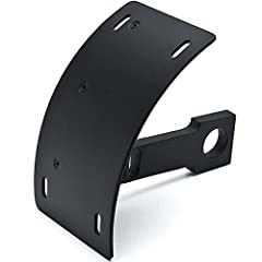 Features:                        Vertical Axle Mounted Motorcycle License Plate Holder          Modern, Stylish, and Functional                       Specifications:                       Color: Black         Material: Billet ...