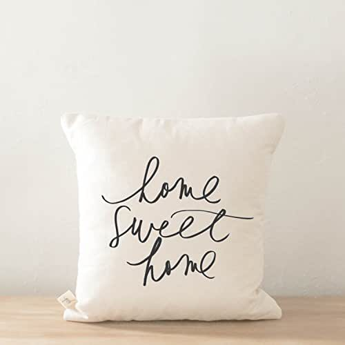 Throw Pillow - Home Sweet Home, Handmade in the USA, calligraphy, home decor, wedding gift, engagement present, housewarming gift, cushion cover, throw pillow