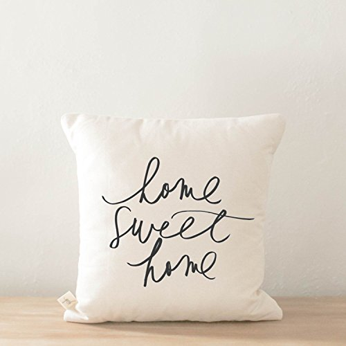 Throw Pillow - Home Sweet Home, Handmade in the USA, calligr