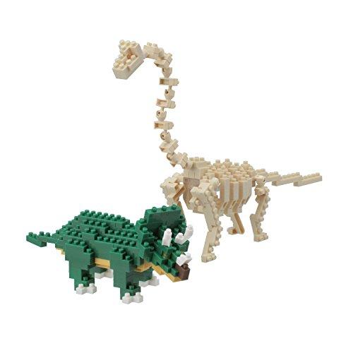 Nanoblock Triceratops and Brachiosaurus Model Kit