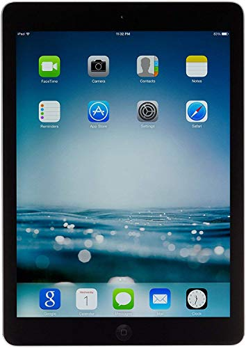 Apple iPad Air MD785LL/B 9.7-Inch 16GB Wi-Fi Tablet (Black with Space Gray) (Renewed) (Air 64gb A7 Apple Ipad)