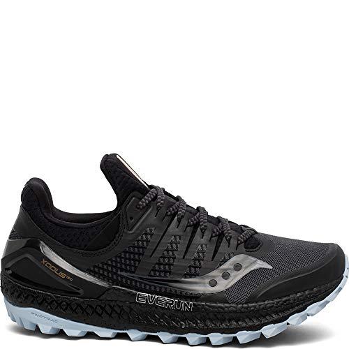 Saucony Women's Xodus ISO 3 Trail Running Shoe, Grey/Black, 8.5 M US