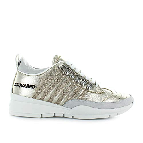 Dsquared2 Blanc Snw0101044009437043 Femme or Baskets Cuir 0ZTZ7qOxrR