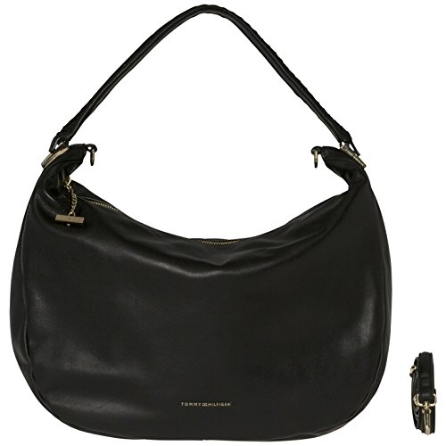Effortless Leather Hobo - Black Leather