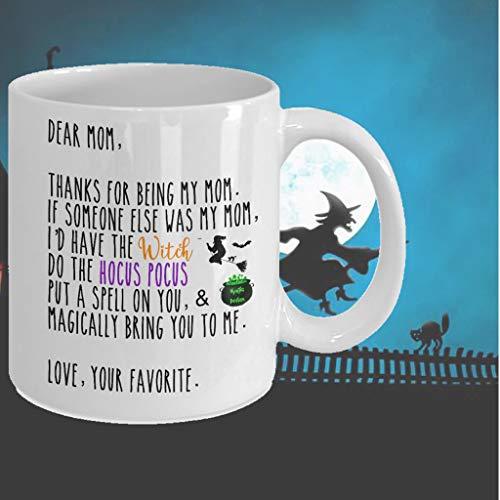 Halloween Mug For Mom Hocus Pocus Mug Magic Potion Witches Mug Witchy Gifts Halloween Deco Rcoffee Mug Personalized Halloween Mug Mom Gifts ()