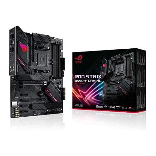 chollos oferta descuentos barato ASUS ROG Strix B550 F Gaming Placa Base Gaming ATX AMD AM4 con VRM de 14 Fases PCIe 4 0 Intel 2 5 GB LAN Dual M 2 Micrófono cancelación Ruido USB 3 2 Gen 2 e iluminación RGB Aura Sync