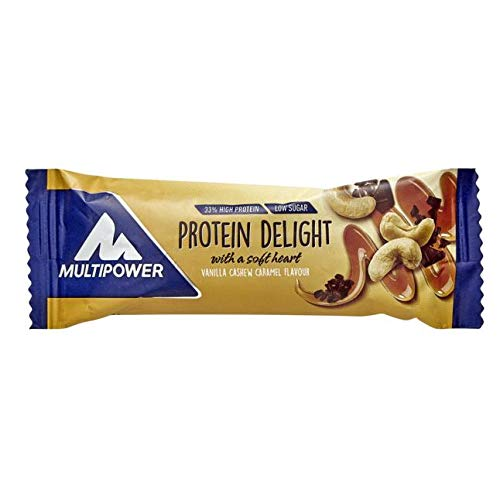 Multipower Protein Delight Riegel Delight Bar Vanilla Cashew Caramel 35g