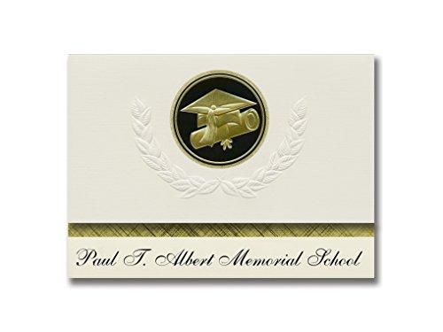 Signature Announcements Paul T Albert Memorial School (Tununak, AK) Graduation Announcements, Presidential style, Elite package of 25 Cap & Diploma Seal Black & Gold