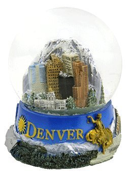 Topline Denver Snow Globe Panorama of Denver Colorado 2.5 Inches Tall (45mm glass globe)